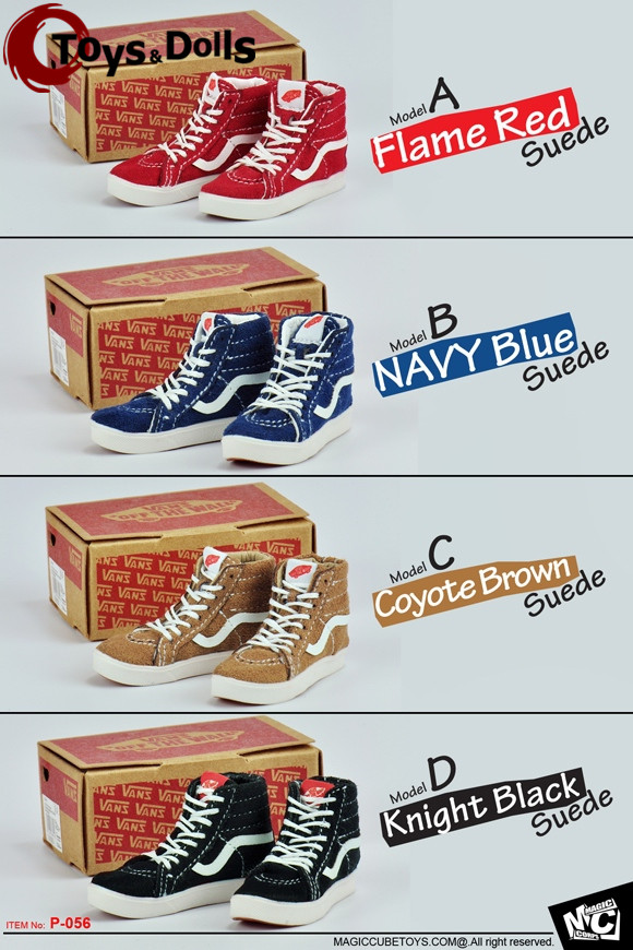 "MCTOYS P-056 1/6 NAVY Blue/Flame Red/Coyote Brown/Knight Black Suede <font><b>Skate</b></font> Casual Shoes F 12"" <font><b>Action</b></font> <font><b>Figure</b></font> Body Toys Accessory"
