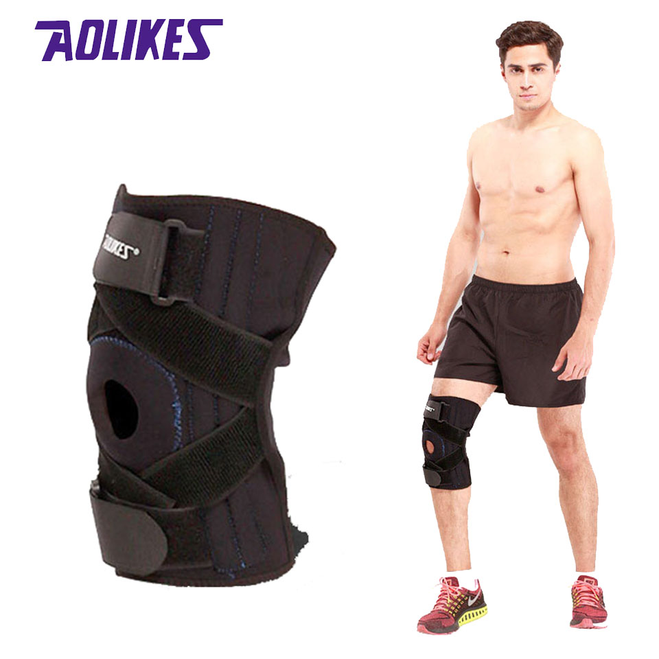 Aolikes 1pcs Adjustable Knee Patella Support Brace Sleeve Wrap Cap Rider Sport Boxer R 383 Spring Sports Leg Protector Pads Safety