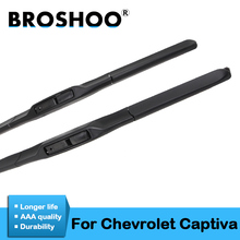 цена на BROSHOO Car Wiper Blade Rubber 24&16 For Chevrolet Captiva 2006 2007 2008 2009 2010 2011 2012 2013 2014 2015 Auto Accessories