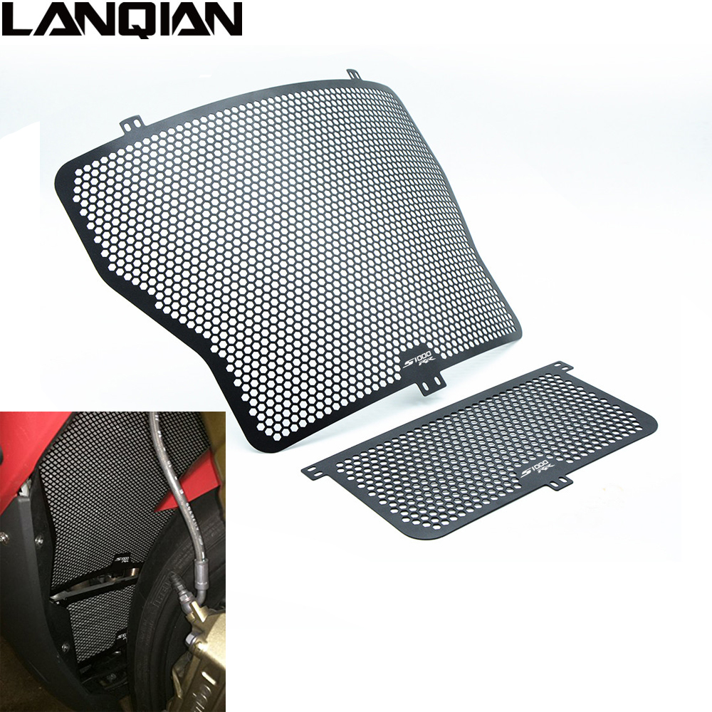 For BMW S 1000RR 1000 RR 2014 2015 2016 Motorcycle Accessories Motorbike Radiator Grille Guard Cover 14 15 16 With S1000RR LOGO motorcycle radiator grille guard cover protector for bmw s1000xr 2015 2016 s1000rr 2010 2016 s1000r 14 16 hp4 12 14
