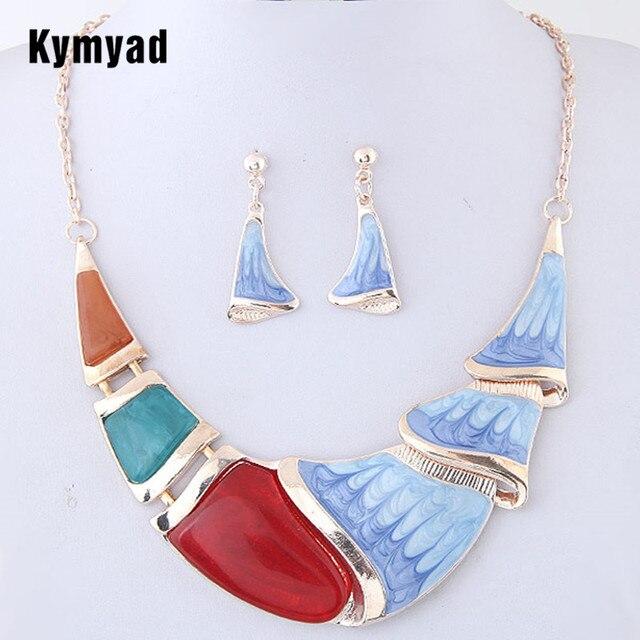 Kymyad Emaille Schmuck Sets Fur Frauen Set Turkischen Schmuck Bijoux