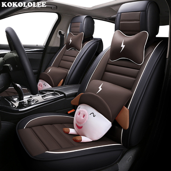 KOKOLOLEE auto PU leather car seat cover anti slip for Porsche Cayman Cayenne Macan Panamera Boxster car seat cushion styling