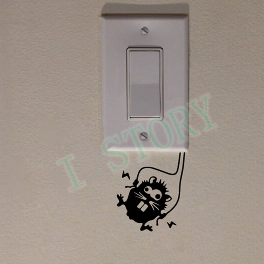 aliexpress com buy free shipping funny mouse decal sticker for