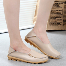 2016 Fashion Summer genuine leather women flats shoes female casual flat women loafers shoes 16 color flat women's shoes