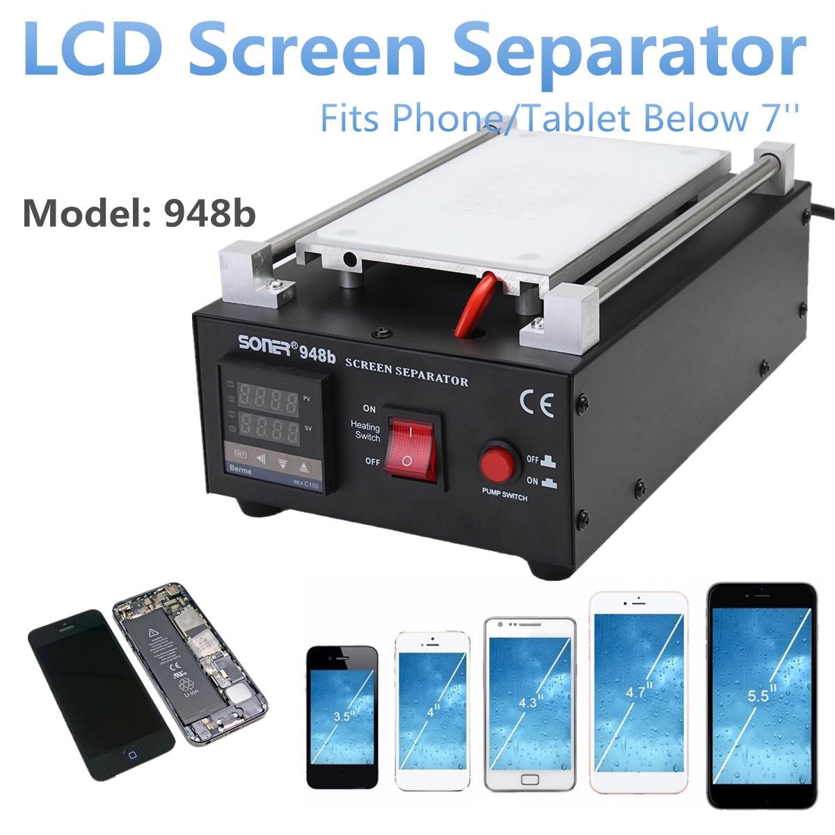 все цены на Separator Repair Machine 7 Built-in Vacuum Pump Mobile Phone LCD Glass Screen Different Cover Plate Auto Heating LED Display онлайн