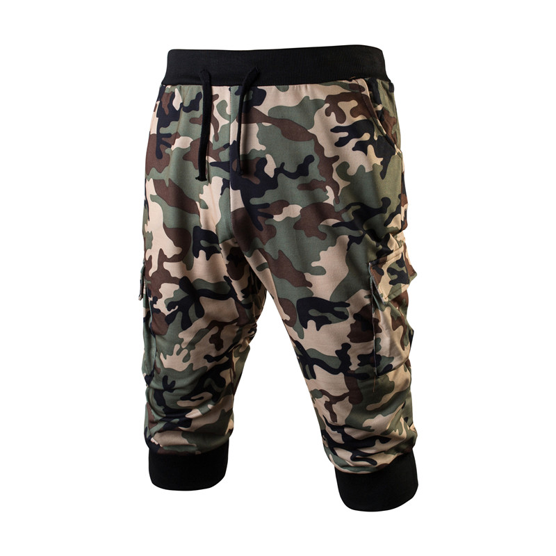 2018 Mens Shorts Casual Bermuda Brand Camouflage Lace Compression Male Cargo Shorts Men Linen Fashion Men Short Summer Linen 3XL