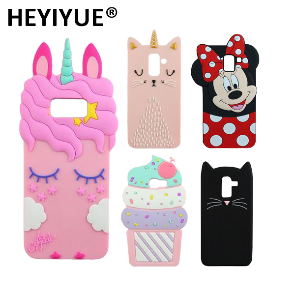3D Unicorn Cat Silicone Phone Case Cover For Samsung Galaxy S7 Edge S8 S9 Plus Note 8 9 J3 J4 J5