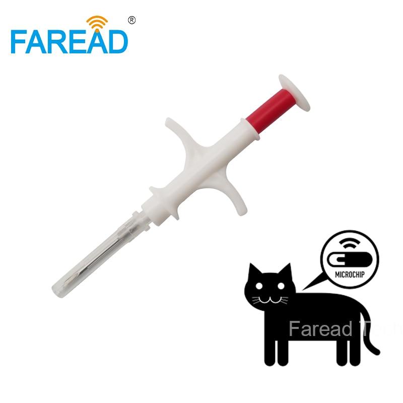 1.4x8mm syringe microchip animal ID dog implant pet chip needle vet RFID injector PIT tag for aquaculture arowana fish farm 20pcs iso 1 4 8mm 134 2khz microchip injector animal id tag rfid chip syringe for dog cat