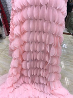 Baby pink new design african Net Lace fabric JRB 122816 French guipure tulle mesh Lace Fabric