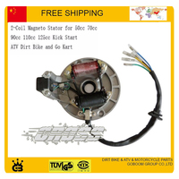 50cc 70cc 90cc 110cc Horizontal Engine Kick Starter Magneto Stator Rotor Motorcycle Magneto Coil Free Shipping