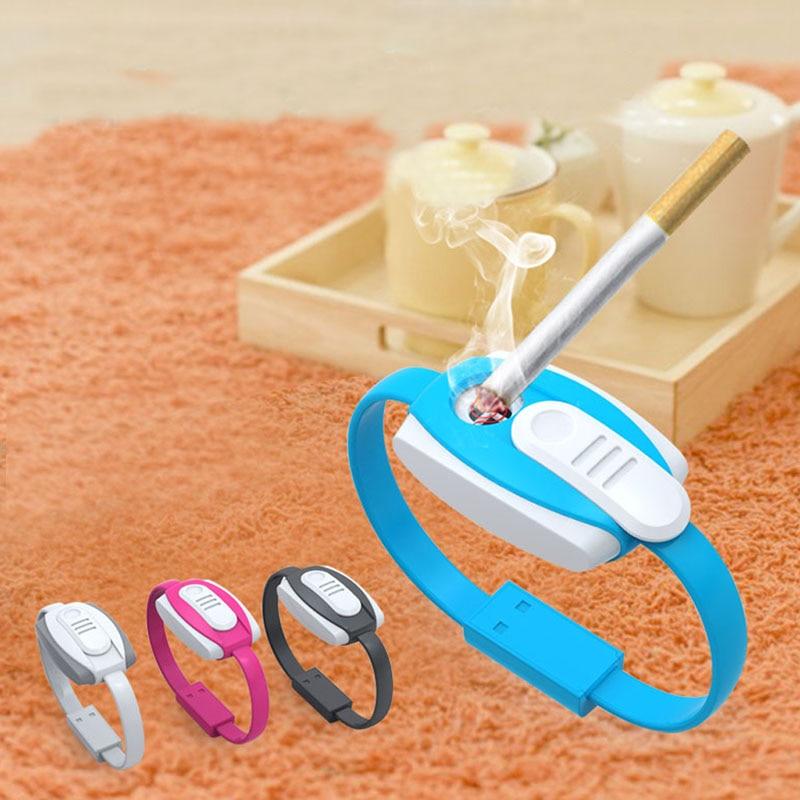Yeni Çok Fonksiyonlu Çakmak Bilezik + USB Veri Kablosu + Acil Şarj Giyilebilir IOS Için Güç Bankası Telefon Şarj