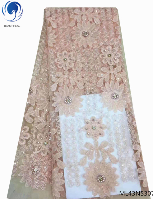 BEAUTIFICAL guangzhou lace fabrics net lace embroidery fabrics purple color bridal lace fabrics for clothing 5yards/lot ML43N53