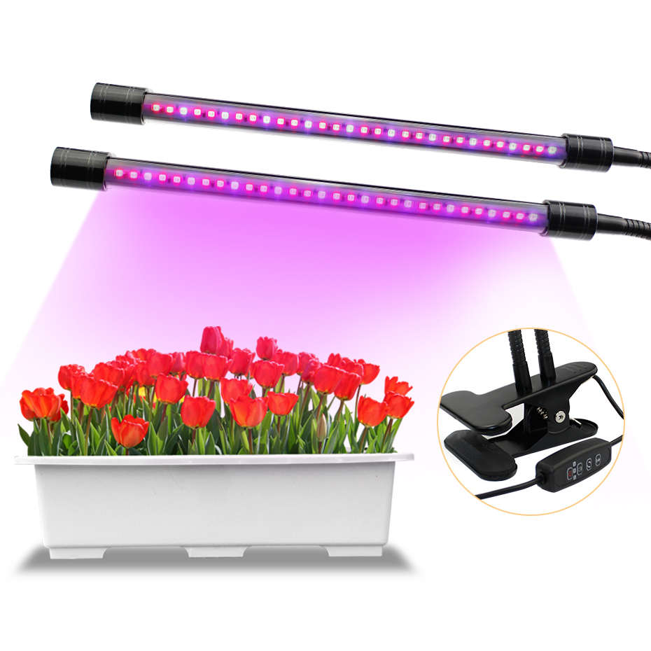 20W LED Grow Light AC100-240V Timing Dimmable Fitolampy LED Full Spectrum Phyto Lamp Phyto-Lamp For Indoor Vegetable Flower