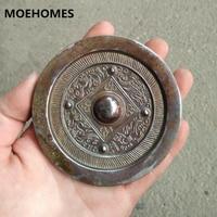 9.5cm Chinese ancient God beast grain Bronze mirror decoration mirror Home decoration gift metal crafts