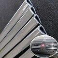 4 M U Estilo Car Interior Ar Condicionado Saída de Ventilação Grille Decoração Chrome Faixa Prateado Carro-capas de Carro DIY-styling