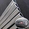 4M U Style Car Interior Air Conditioner Outlet Vent Grille Chrome Decoration Strip Silver Car-covers DIY Car-styling
