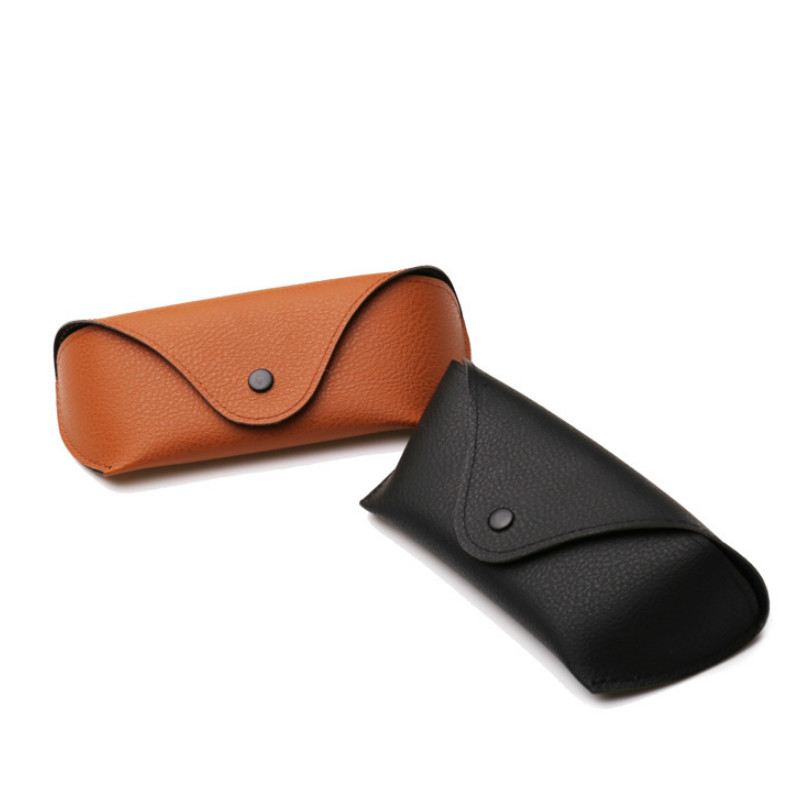 PU Leather Eyewear Cases Cover For Sunglasses Women's Eyeglasses Case Men Reading Glasses Box With Metal Buckle Eyewear Cases