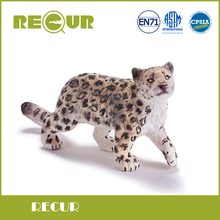 ФОТО Recur Toys Snow leopard cub wild Animal Model PVC Toy Hand Painted Action Figure Soft Toys  Children and collectors