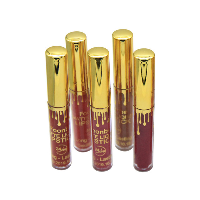 Small Size FOONBE Lips Maquiagem Matte Lipstick Matt Lip Gloss Beauty Cosmetics Makeup Lipgloss Make up Liquid Batom mate