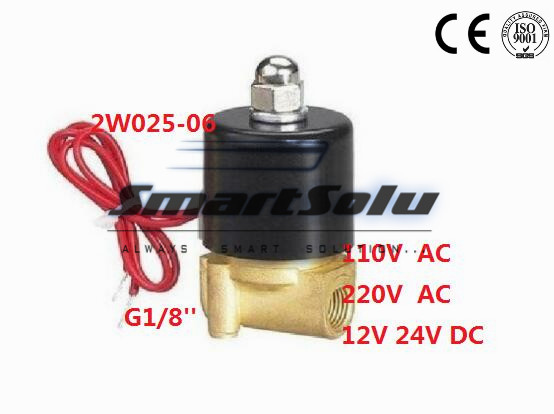Free shipping 5PCS AC220V PT1/8'' Port Connection 2 Position 2 way Water solenoid Valve Brass CKD DIN Coil elmos bg 800