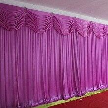Лидер продаж, двухслойный свадебный фон, занавеска С декорации, свадебное украшение, романтические шелковые занавески для сцены