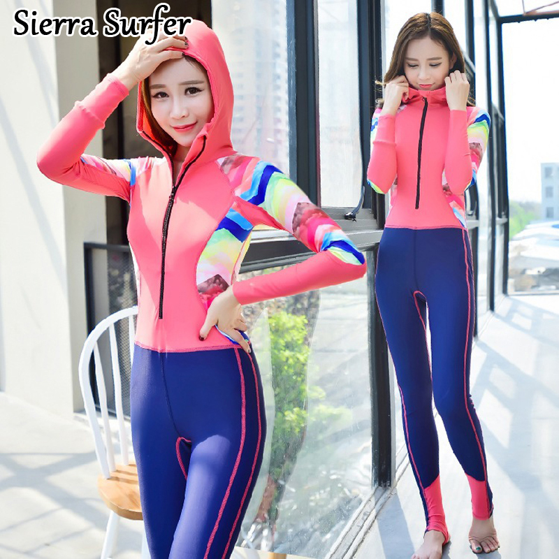 Swimming Suit For Women Plavky Girls Swim One Piece May Beach Seir Zipper Long Sleeve Pants Mayo Maio Traje De Bano Mujer sexy one piece swim suits swimsuit cheap bathing may beach girls 2017 korean new underwire triangle suit plavky damy bayan mayo
