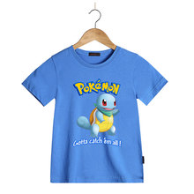 Summer Cartoon Monster Go Children T Shirts Kids T-Shirt Clothing for boys girls Monster Squirtle T-Shirts