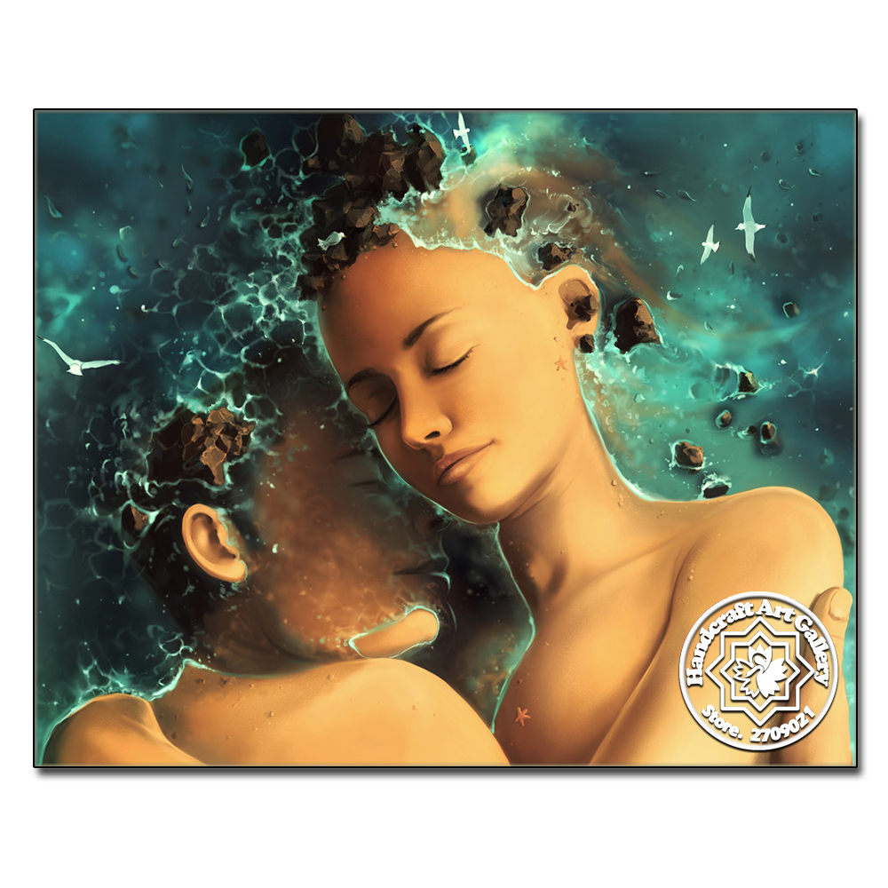 Moonzero 3D DIY Diamond Painting Square Stone Mosaic Kit Portrait Rhinestone Pasted Painting Embroidery Cast Away Into Your Arms