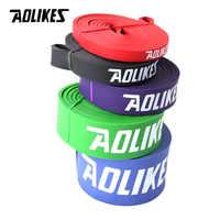 Aolikes conjunto de látex natural atlético borracha resistência bandas conjunto ginásio expansor crossfit levantamento de energia puxar para cima fortalecer os músculos