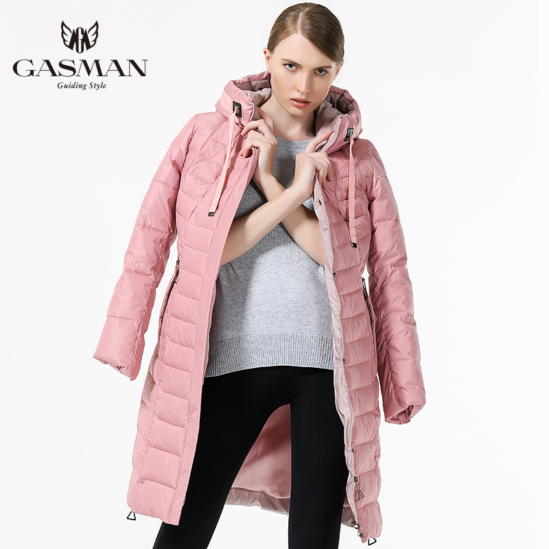 2017 New Winter Warm Women Coat Thick Hooded Parka Women Windproof Bio Down Jacket Medium Length Pink Plus Size 5XL 6XL fashionable thick hooded pleated down coat for women