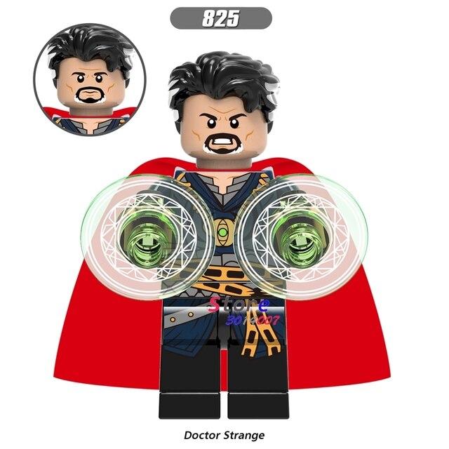 Único Infinito Guerra Homem De Ferro Marvel Avengers Doutor Estranho figura Capitão América Homem-Aranha blocos de construção de brinquedos para crianças