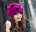 Special Offer Winter 2016 High Quality Rex Rabbit Fur Hats For Women Warm Pom Beanies Hat Ski Nature Knitted Cap Free Shipping