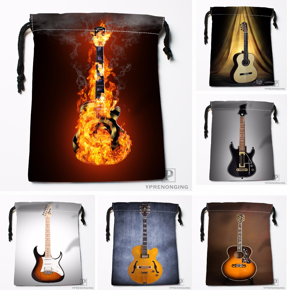 Custom Electric Guitar By Arferman Drawstring Bags Travel Storage Mini Pouch Swim Hiking Toy Bag Size 18x22cm#0412-04-236