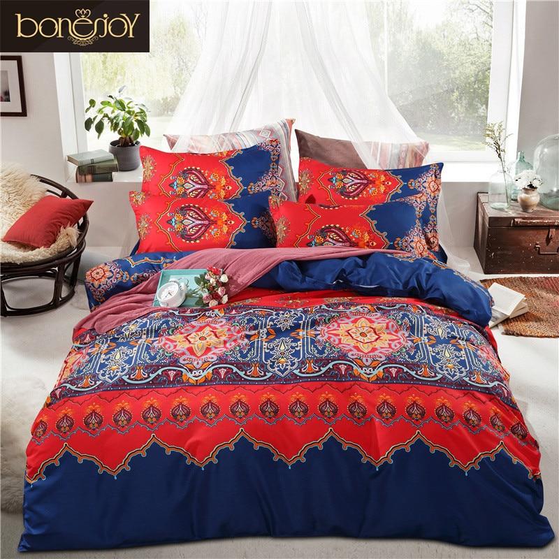 buy bonenjoy 2017 cotton polyester bohemian duvet covers boho king bedding sets. Black Bedroom Furniture Sets. Home Design Ideas