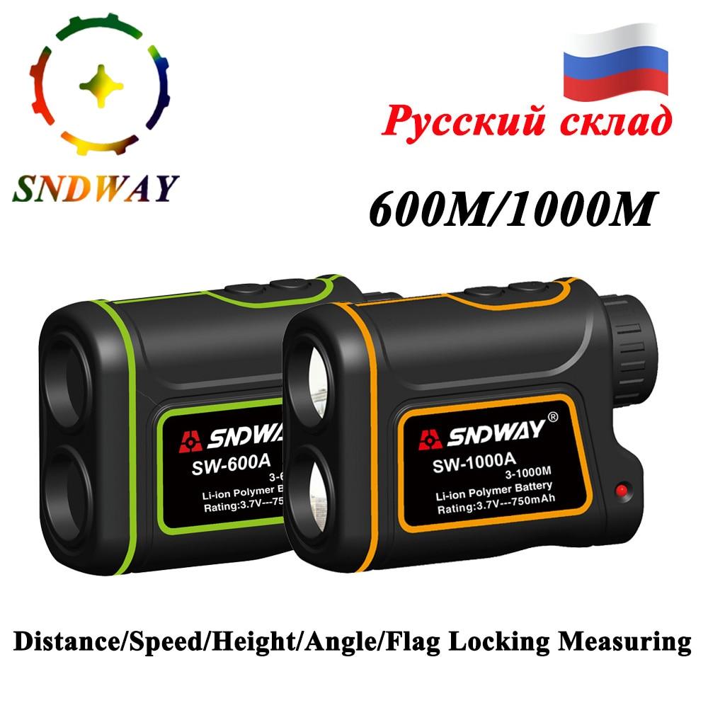 SNDWAY Telescope trena laser rangefinder Monocular hunting golf range finder laser distance meter measure tape laser