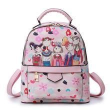 Дамские туфли из PU искусственной кожи сумка с принтом граффити Рюкзаки Школьные сумки для подростков Водонепроницаемый Повседневное сумка Mochila Feminina
