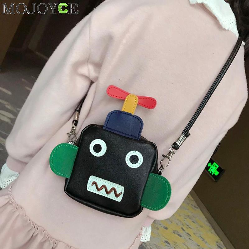 Kids & Baby's Bags New Robot Design Youn Girls Pu Shoulder Bag Tote Crossbody Mini Messenger Bag For Female Flap Bolsa Handbag Designer Bags