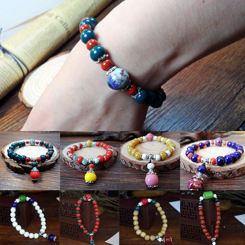 LNRRABC Retro Exquisite Bracelets Multi-Color Drop Shape Bracelet Pendant Jewelry Gift