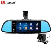 Junsun 7 inch Special Car GPS Navigation Mirror Bluetooth Android 16GB Car DVR Rearview Mirror Monitor navigators automobile