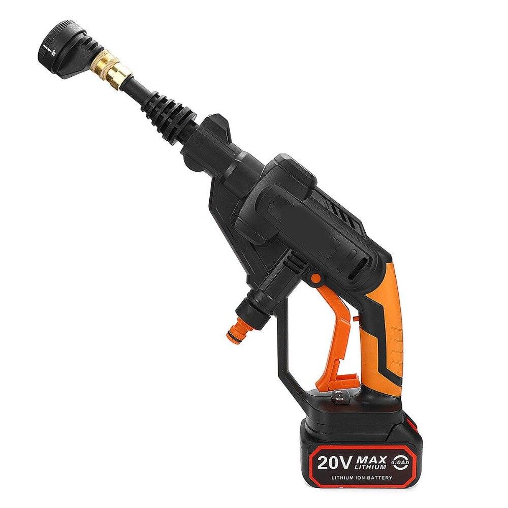 Ferramenta Elétrica de lítio Recarregável Máquina de Lavar de Alta Pressão máquina de Lavar Carro Portátil Interior Do Carro Arruela 22bar 320PSI 4000 mah