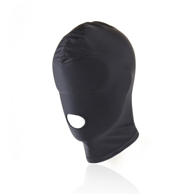 Sexy high elastic Latex Hood Black Mask 4 tyles Breathable Headpiece Fetish BDSM Adult for party 2