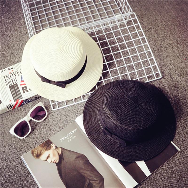 Big Brim Hat Women Summer Hats Parent-child Sun Caps Bow Tie Casual Cute Children Cap Straw Hat Beach Visor Sun Hats for Women