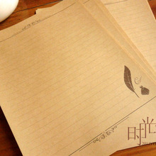 Papel de carta Kraft Retro Vintage nuevo creativo 8 piezas por lote papel de escritura Simple elegante pluma de amor 731