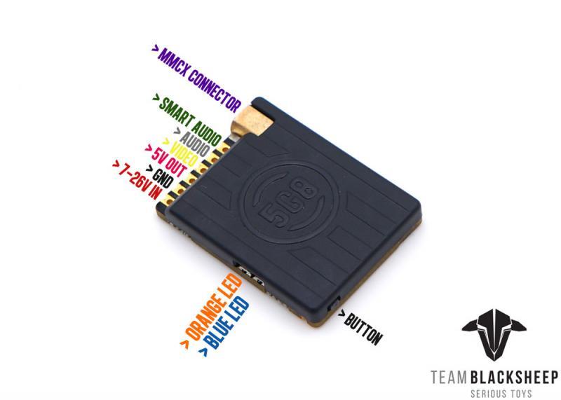 5.8 GHz sct équipe mouton noir Unify Pro 5G8 HV course 2 (MMCX) transmetteur vidéo VTX