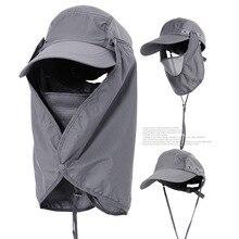 Sun Caps Flap Hats UV 360 Solar Protection UPF 50 Sun Cap Shade Hat  Removable Neck Face 2840dbebba2b