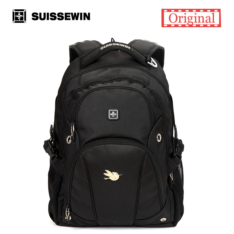 Suissewin swiss swisswin Casual Daily Backpacks For Laptop School Bagpack Mochila Escolar Travel Rucksack Knapsack Sn9503 pink lace up design off the shoulder long sleeves crop top