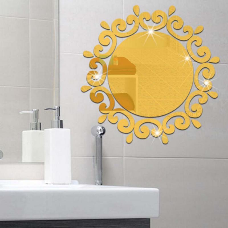 Flower Wall Mirror 18 \'\' Luxury Flower Vine Decorative Dressing Up ...