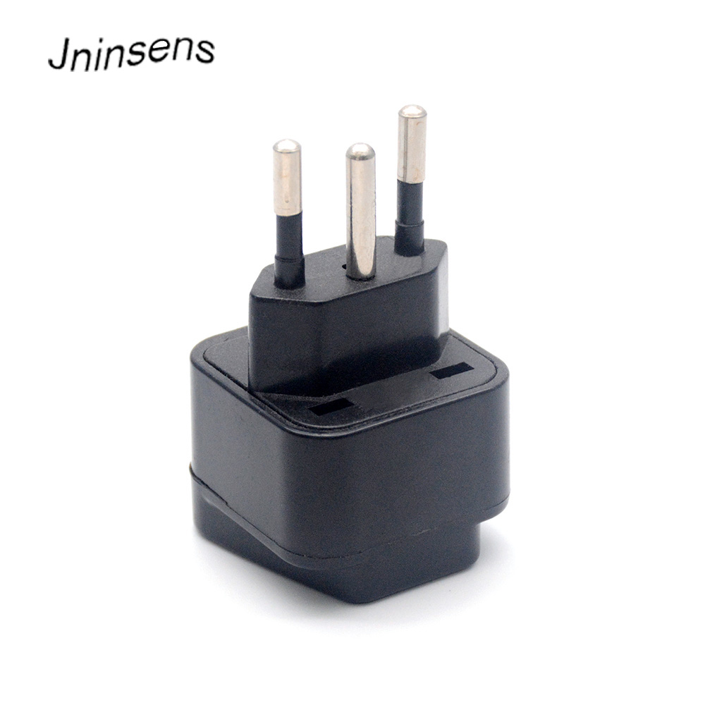 2017 New <font><b>3pin</b></font> Brazil Brazilian AC Power <font><b>Plug</b></font> Charger <font><b>UK</b></font> US EU AU to Brazil Travel Adapter Socket Converter For Home Travel Use image