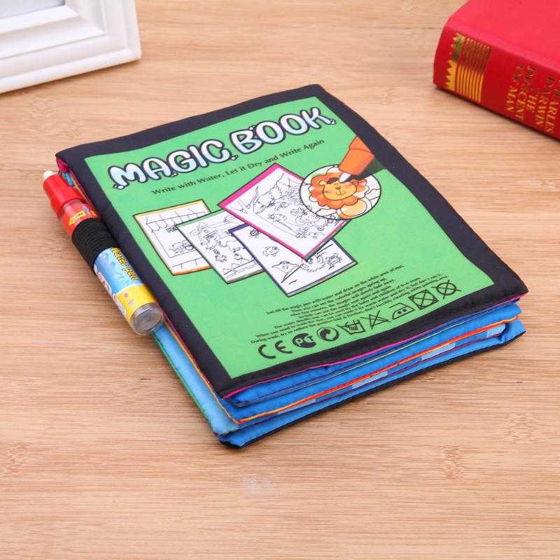 Magic-Water-Drawing-Book-Kids-Animals-Drawing-Book-with-Magic-Pen-Baby-Educational-Doodle-Painting-Board-Coloring-Drawing-Toys-2