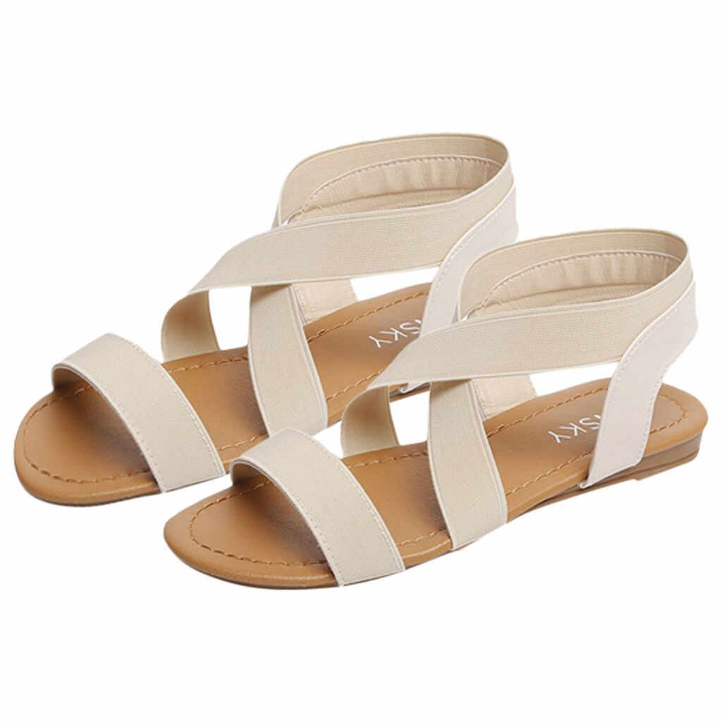 039266a889c Youyedian shoes women low heel peep toe sandals anti skidding cross strap sandals  women casual flat